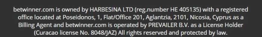 Curacao license No. 8048/JAZ