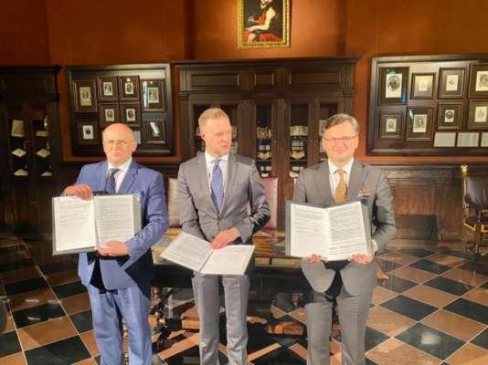 Министры иностранных дел Украины, Польши и Литвы