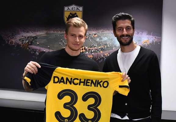Данченко зіграв перший матч за АЕК