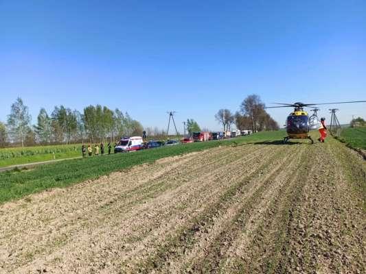 Рятувальники разом з вертольотом швидкої допомоги