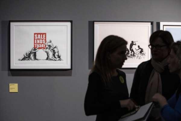 На аукціоні в Гонконгу продали дві картини Banksy за понад 8 мільйонів доларів