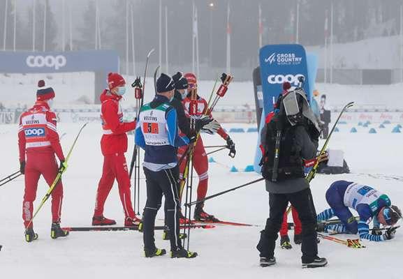 Російський лижник збив фінського суперника після фінішу (Відео)