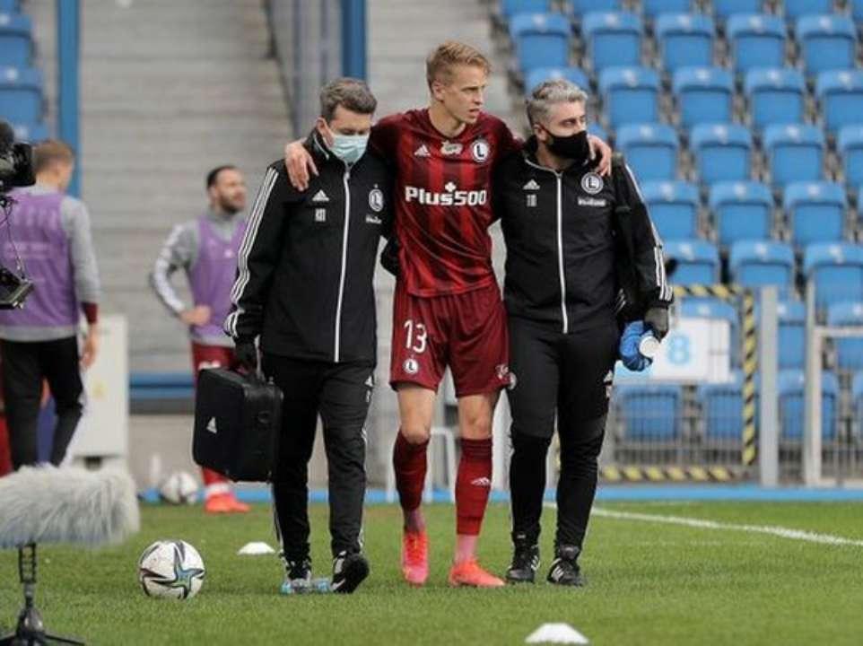 Артем Шабанов получил травму в игре с Лехом