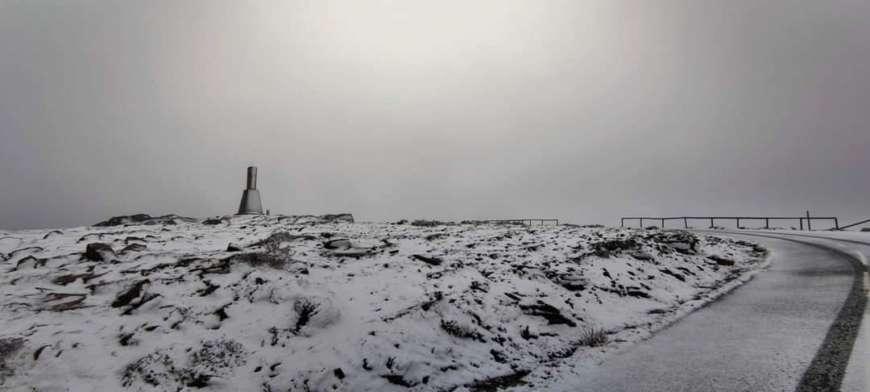 Португалию накрыло снегом