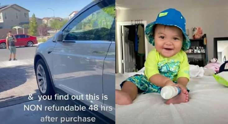 10-месячный мальчик купил обновления на Tesla