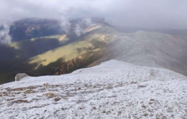 В Карпатах пошел снег и ударил мороз