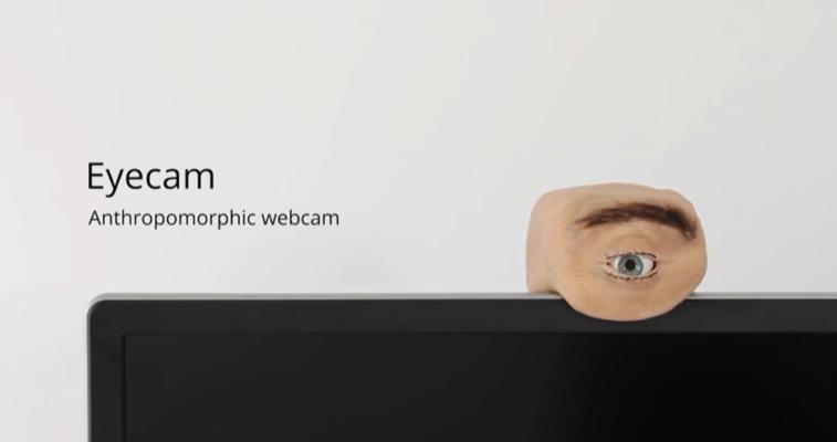 Инженер создал веб-камеру в виде человеческого глаза