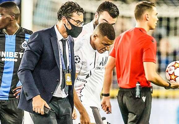 Мбаппе получил травму в матче с Брюгге