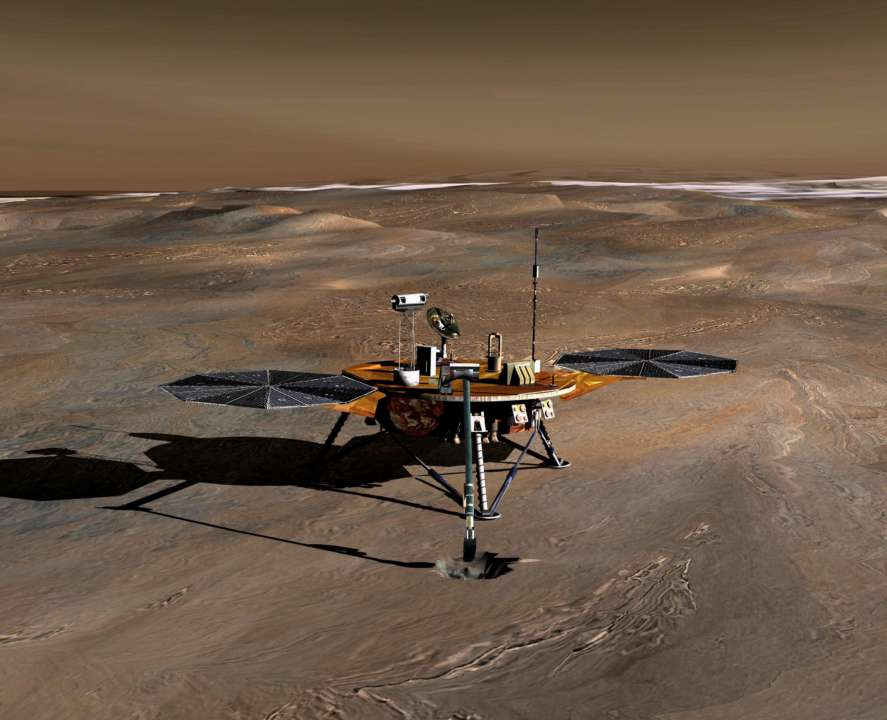 Посадковий модуль NASA на Марсі