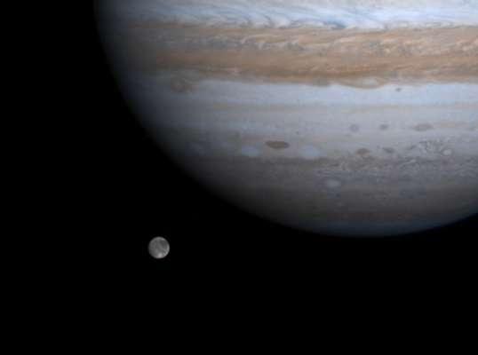Телескоп Hubble зафіксував на супутнику Юпітера сліди водяної пари