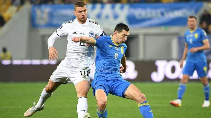 Украина упустила победу в матче с Боснией и Герцеговиной