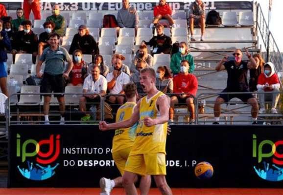 Баскетбол 3х3. Мужская сборная Украины U-17 пробилась в финал чемпионата Европы