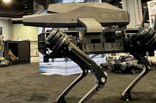 Американская компания выпустила робособак со штурмовой винтовкой на спине. Aото