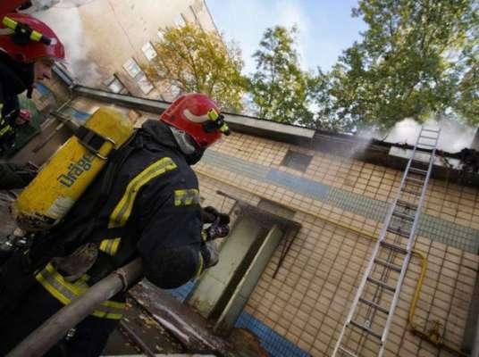 В Киеве произошел пожар на территории Института урологии. Фото