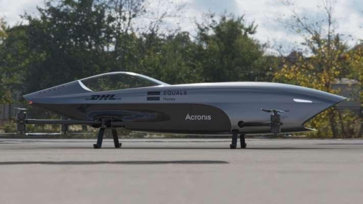 Гонки на летающих автомобилях: появились первые кадры полета болида
