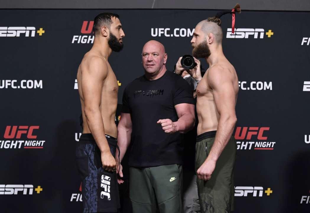 Зважування напередодні UFC on ESPN 23. Куцелаба схльоснувся із Джейкобі. Відео