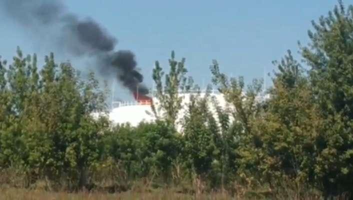 На нефтебазе в оккупированном Донецке прогремел мощный взрыв
