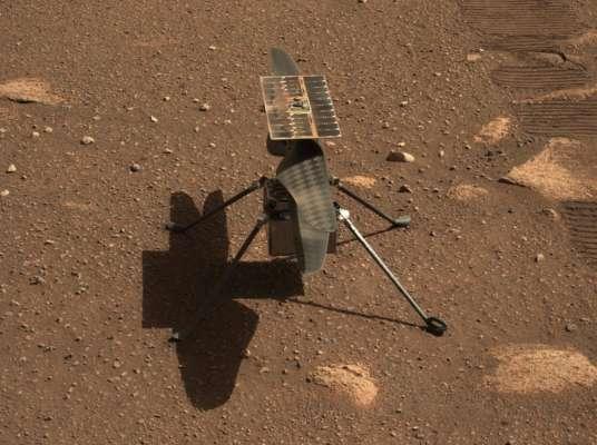 NASA опубликовали видео первого полета вертолета на Марсе
