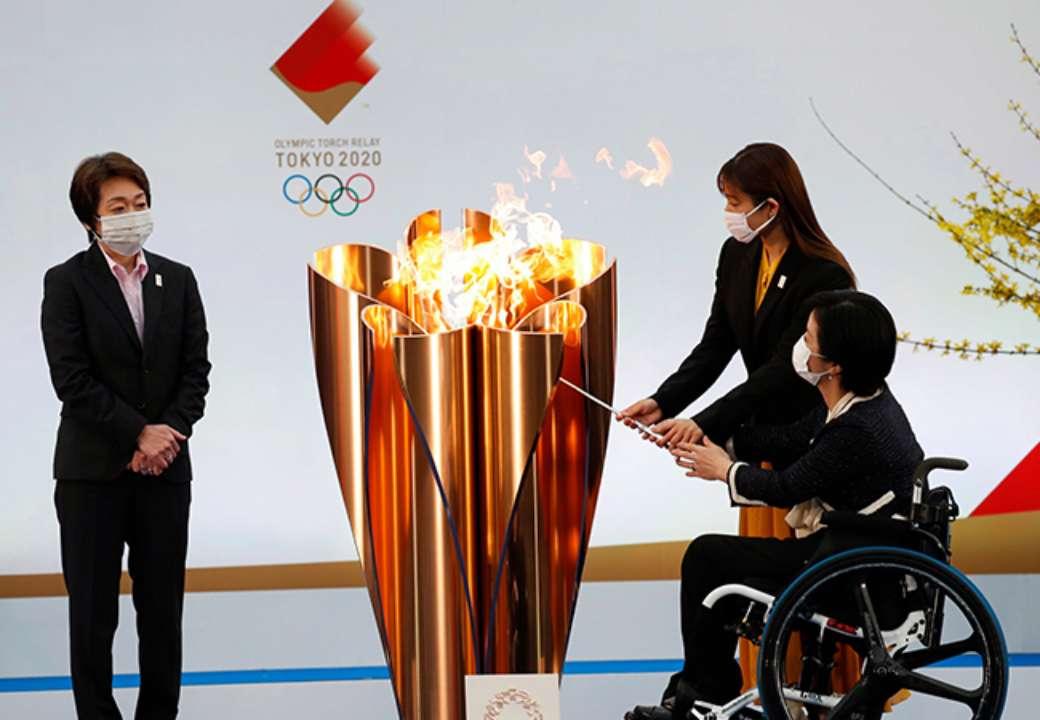 Наконец-то. В Японии стартовала эстафета олимпийского огня