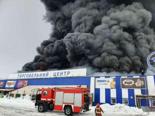 У Первомайську Миколаївської області горить «Епіцентр». Відео