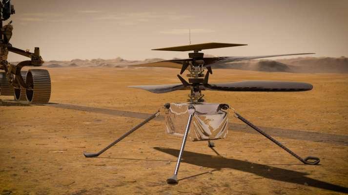 На вертолете Ingenuity произошел сбой во время полета на Марсе