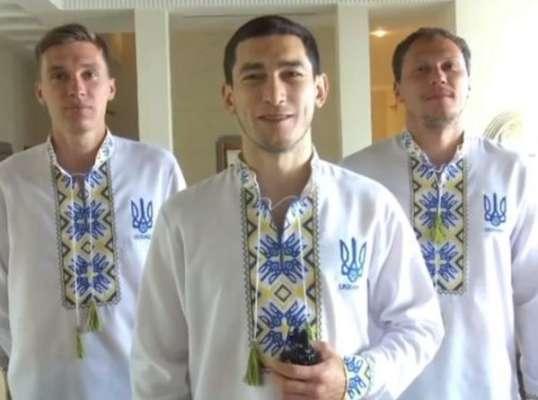 Игроки сборной Украины в вишиванках пригласили зрителей на матч с Бахрейном. Видео