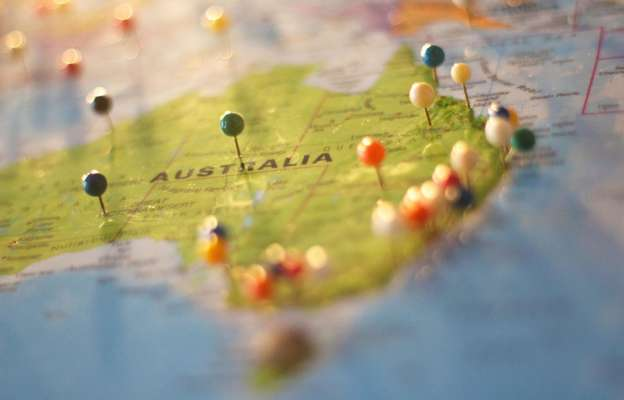 Територія Австралії на карті світу
