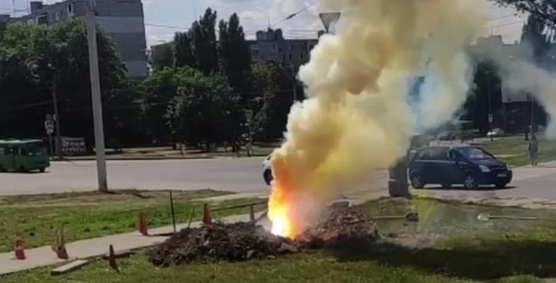 в Харькове произошла авария