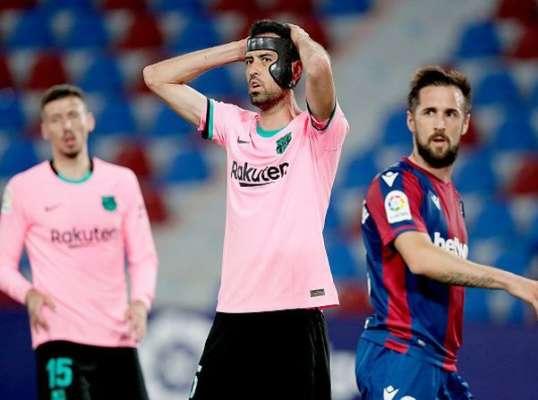 Шансів на чемпіонство тепер мало. Барселона забила три голи Леванте, але не зуміла перемогти