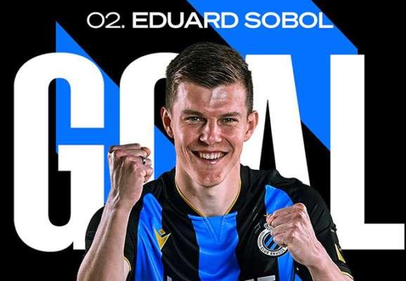 Соболь забил победный гол Брюгге в матче против новичка лиги