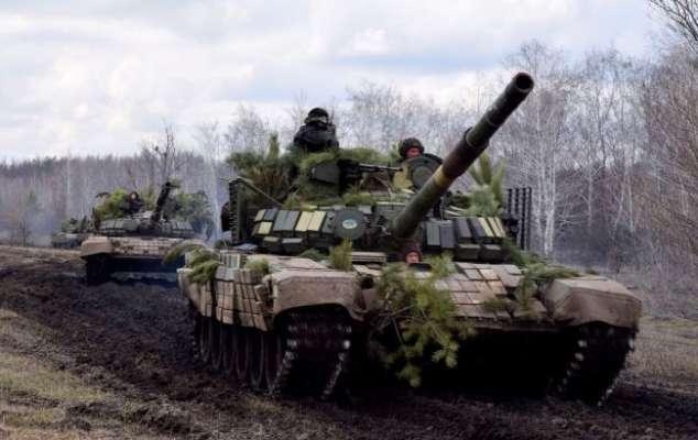 Украинские танковые войска провели учения в районе ООС