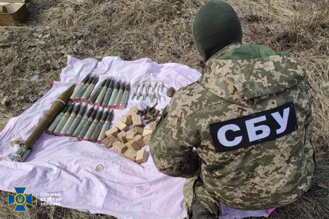 СБУ виявила артилерійські і танкові снаряди