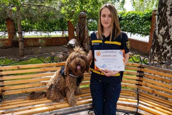 собака-психолог отримала диплом терапевта