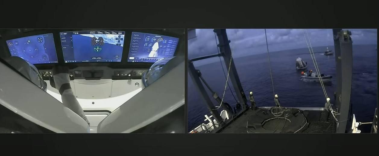Туристи місії SpaceX приземлилися в Атлантичному океані
