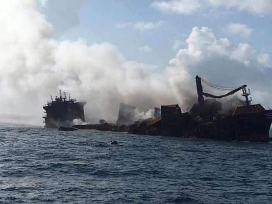 Загроза екологічної катастрофи: біля Шрі-Ланки тоне корабель з небезпечними хімікатами