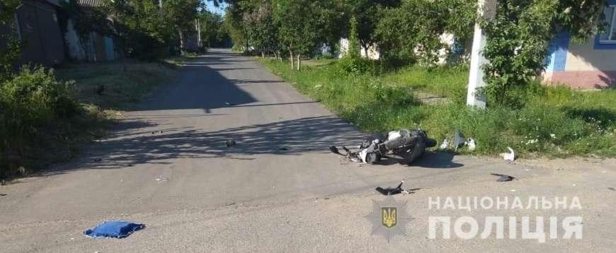 В Одеській області мопед зіткнувся з автомобілем