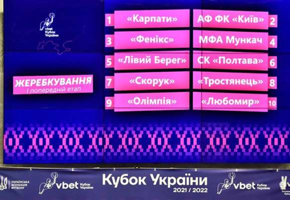 Состоялась жеребьевка предварительного раунда Кубка Украины