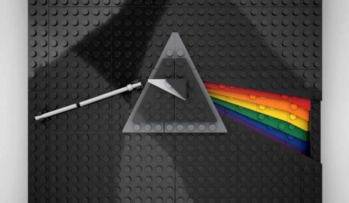 LEGO обложки популярных музыкальных альбомов