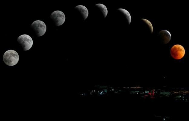 Повільна зйомка Місяця