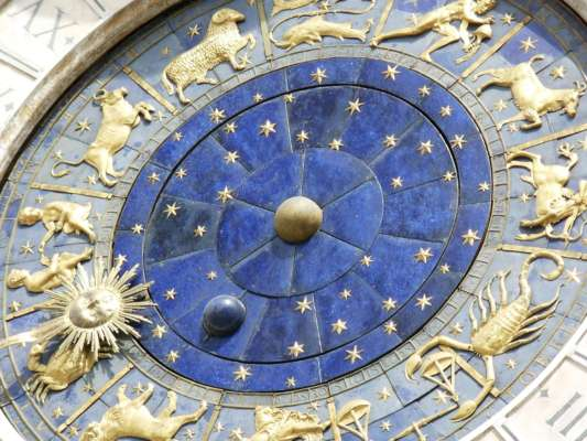 Часы с изображением всех знаков Зодиака