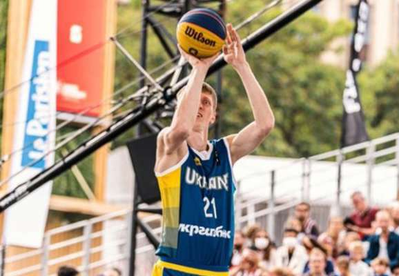 Баскетбол 3х3. Мужская сборная Украины уступила Литве в 1/4 финала Евро
