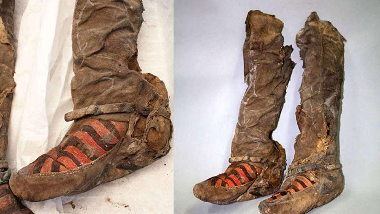 Археологи обнаружили в Монголии 1000-летнюю обувь, похожую на кроссовки Adidas