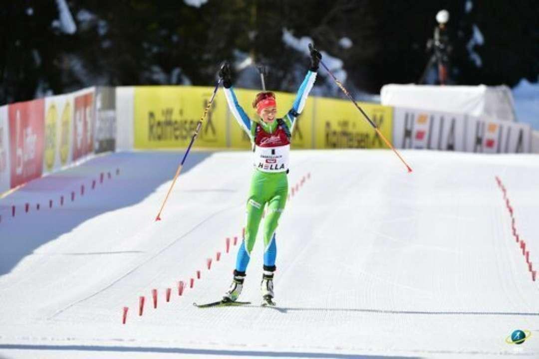 ЮЧС з біатлону. Олександра Меркушина зайняла 15 місце в персьюті