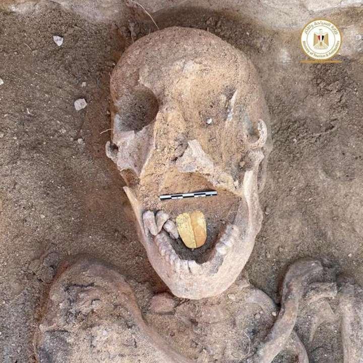 В Египте обнаружили мумию с золотым языком